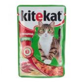 Kitekat (Китекат) с говядиной в желе для кошек 85 гр