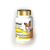 Unitabs (Юнитабс)  BreversComplex с пивными дрожжами для Мелких собак 100таб