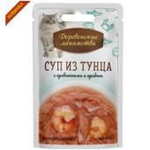 Деревенские Лакомства Суп из тунца с креветками и крабом