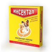Инсектал для кошек и собак весом от 2 до 4кг