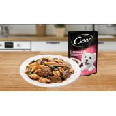 CESAR® (Цезарь)  из говядины и кролика в соусе со шпинатом 85 г