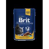Brit Premium (Брит Премиум) Cat Pouches with Chicken & Turkey