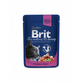 Brit Premium (Брит Премиум) Cat Pouches with Salmon & Trout