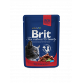 Brit Premium (Брит Премиум) Cat Pouches with Beef Stew & Peas
